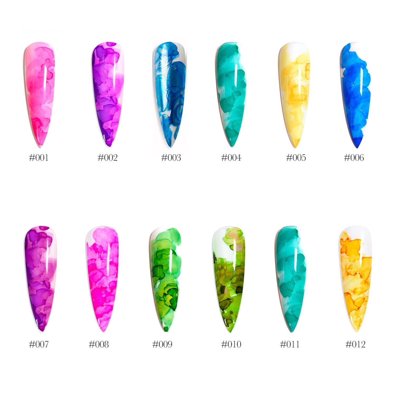 watercolor gel polish